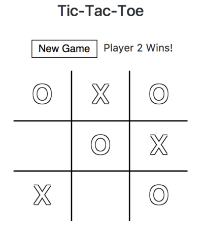 tic tac toe game on codepen