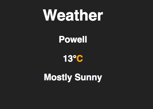 weather widget on codepen